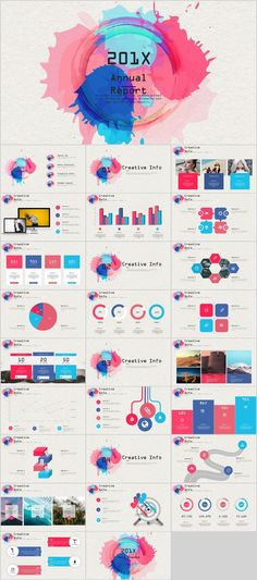 27+ Colorful annual report charts PowerPoint template on Behance #powerpoint #templates #presentation  #annual #report #business #company #design #creative #slide #infographic #chart #themes #ppt #pptx #slideshow