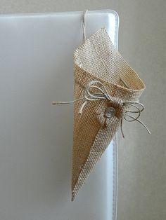 Cesta de arpillera arpillera cono pew de arpillera rústico