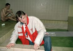 Kenny Dalglish climbs out of the bath, having been thrown in by his players after the Barclays League Division One match between Liverpool and Derby County at Anfield on May 1990 Liverpool Football Club, Liverpool Fc, Kenny Dalglish, Derby County, May 1, Memories, Division, Bath, Memoirs