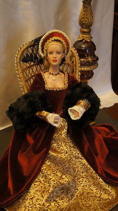 Tyler Wentworth in her Tudor Queen dress.