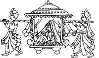 Doli Wedding Symbols Saree Painting Designs, Fabric Paint Designs, Wedding Drawing, Wedding Painting, Madhubani Art, Madhubani Painting, Folk Embroidery, Applique Embroidery Designs, Drawing Sketches