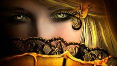 Mystical Women Wallpaper | Esta bonita imagen nos muestra la cara de un hada cuando esta ve ...