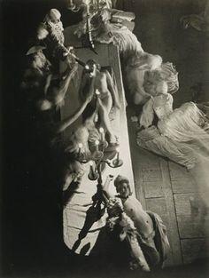 "an-overwhelming-question: "" Brassaï - Folies-Bergere, 1932 "" Folies Bergeres, Brassai, Old Paris, French Photographers, Contemporary Photographers, Monochrome Photography, Opera, At Least, Statue"