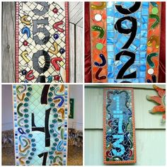 Mosaic address signs - I seriously need a new and more readable house number.