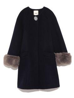 ポイントビジューノーカラーコート(ウールコート) snidel(スナイデル) ファッション通販 ウサギオンライン公式通販サイト