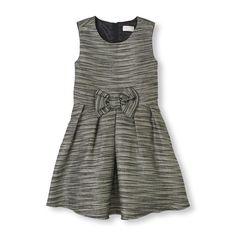 Sleeveless Shimmer Bow Dress