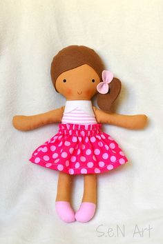 Fabric Doll Handmade doll hand made Rag doll Soft Doll by SenArt1