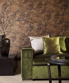 Modern Nature Wallpaper in Brown and Black from the Loft Collection by Burke Decor Wallpaper Bedroom Vintage, Luxury Wallpaper, Home Wallpaper, Nature Wallpaper, Traditional Home Offices, Traditional House, Wallpaper Collection, Special Wallpaper, Cosy Corner