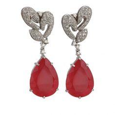 a94e843b29e8 Gemstone and diamond earrings by Vianna Pendientes Azules