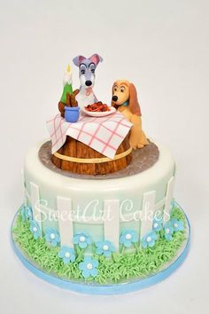 Lady and the Tramp birthday cake