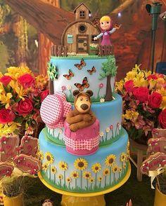 """6,433 Likes, 98 Comments -  BLOG FESTEJAR COM AMOR  (@festejarcomamor) on Instagram: """"Você vai fazer uma festa com tema Masha e o Urso? Olha que linda essa inspiração! Decoração…"""""""