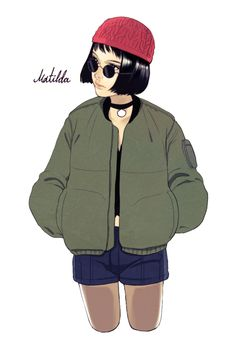 47 Mathilda and Leon Illustration Ideas - Art Guy Drawing, Life Drawing, Drawing Sketches, Drawings, Poster Drawing, Character Design Teen, Character Design References, Leon The Professional, Leon Matilda