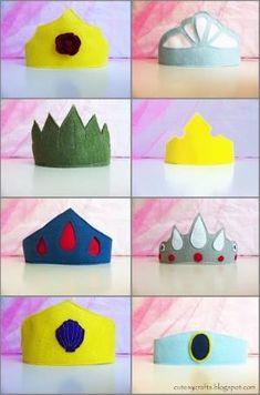 Felt Princess Crowns by catherine