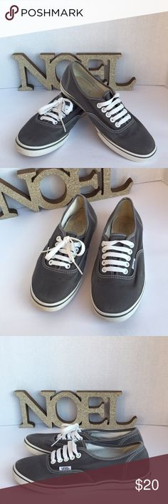 Vans sneakers Gray canvas vans in great used condition with normal signs of wear. Vans Shoes Sneakers