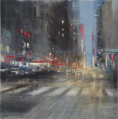 Oil on cms City Lights, Oil, Canvas, Painting, Cityscapes, Pintura, Tela, Painting Art, Canvases