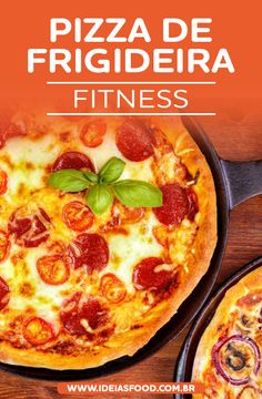 Want to Learn How to Prepare a Delicious Frying Pan Pizza Fit Recipe? Healthy Low Calorie Dinner, Healthy Low Carb Snacks, Low Carb Dinner Recipes, Diet Recipes, Healthy Recipes, Healthy Pizza, Tofu Recipes, Pizza Recipes, Cake Recipes
