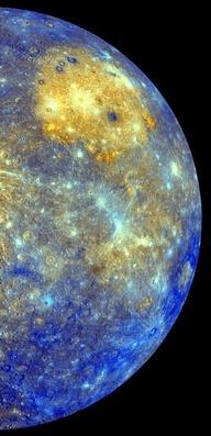 Colour mosaic of Mercury, from NASA