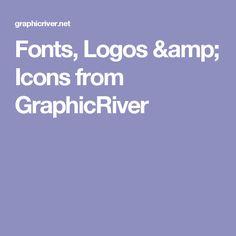 Fonts, Logos & Icons from GraphicRiver