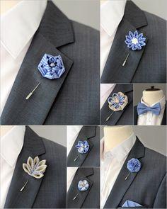 1 flower lapel pin Mens lapel flower Boutonniere by Nevestica Pochette Costume, Suit Fashion, Mens Fashion, Yellow Bridesmaids, Rose Boutonniere, Boutonnieres, Pin Man, Jw Gifts, Lapel Flower