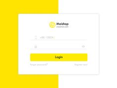 Login for Maishop by Yira Yang