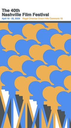 Nashville Film Festival poster concept by Sam's Myth, via Flickr