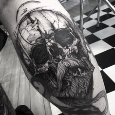 Skull thank you Chris #electricink