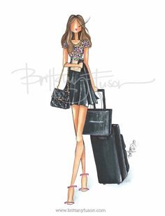 A custom project for a young, jet-setting corporate gal who loves flirty dresses and dreams of one day owning a Chanel bag. Fashion Dolls, Fashion Art, Girl Fashion, Womens Fashion, Fashion Design, Fashion Sketchbook, Fashion Sketches, Fashion Illustrations, Beautiful Sketches