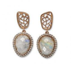 Rainbow Moonstone Earrings www.limitlessboutique.com