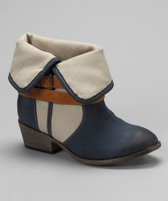Take a look at this Navy Klaudia Bootie by Bucco on #zulily today!