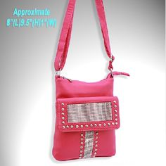 Pink Bling Cowgirl Messenger Bag