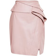 Blush Peplum Leather Skirt by Elie Saab - Moda Operandi Pink Leather Skirt, Leather Peplum, Leather Skirts, Slit Skirt, Layered Skirt, Elie Saab, Polyvore Fashion, Fashion Outfits, Clothes