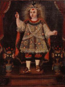 Niño Jesús de Huanca, 18th century Oil on canvas, present location unknown