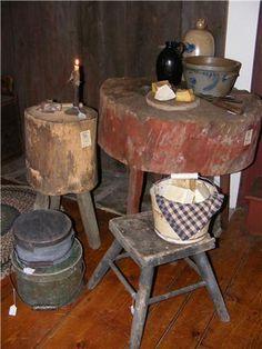 love the red table primitive kitchenprimitive - Primitive Kitchen Tables