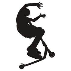 stunt scooter silhouette - Google Search