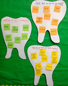 dental health tooth post its
