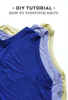 How to Topstitch Knit Fabric | Sew DIY