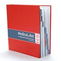 The Medical.doc Binder from Buttoned Up features tabbed, color-coded sections that cover Health History, Diagnosis, Appointments, Instructions, Correspondence, Lab Results, Medications, and Insurance. A business card holder helps you keep track of doctors and facilities, and easy to follow forms enable you to document treatments. Every family should have one.