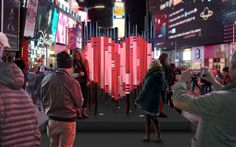 See a cool public art installation in Times Square - ELLEDecor.com