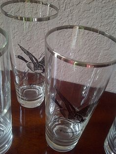 HIGHBALL GLASSES Grouse Ring Necked Pheasant by maggiecastillo, $35.48