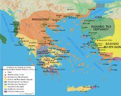 Map Macedonia 200 BC-el.svg