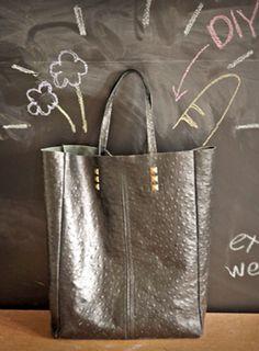 Como hacer un bolso de cuero fácilmente con moldes1