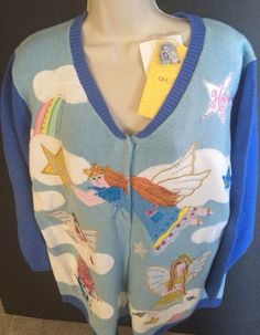 Quacker Factory Angels Christmas Sweater Cardigan Size 1X NWT #QuackerFactory #Cardigan
