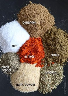 Making your own Sazon spice blend is EASY to do – and the best part, no MSG! Sazon is like the magic spice blend in many of my Latin dishes. It's commonly found in the supermarket in small envelopes that you add to stews, beans, rice, etc. It gives yello Sazon Seasoning, Seasoning Mixes, Goya Seasoning Recipe, Tandoori Seasoning Recipe, Mexican Seasoning, Comida Latina, Homemade Spices, Homemade Seasonings, Spice Blends