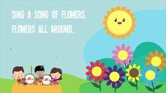 Sing a Song of Flowers | Song Lyrics | Preschool Songs | Rhymes Songs | ...