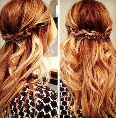 Fiery Hair Wtih Braid - Hairstyles and Beauty Tips