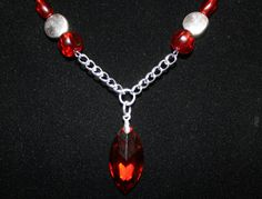 Sexy Lil' Rolling Stones Inspired Ruby Tuesday necklace by LetitBJewelry, $19.99