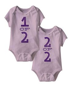 Another great find on #zulily! Lilac '1 Of 2, 2 Of 2' Bodysuit Set - Infant #zulilyfinds
