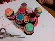 """The beginning stages of creating the """"Polyps"""" artwork. See how 3D it is! Exciting!"""