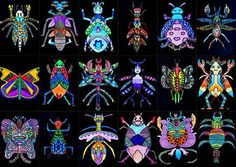 Every day we see symmetrical shapes, that we can find both in nature and in the works of man. We were inspired by the insects' world, for invent an imaginary insect. After observing various types of i