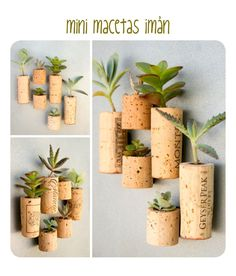 There are tons of awesome Cork DIY Ideas out there. I've gathered 5 easy ones to get you started on your own DIY cork projects. Wine Cork Art, Wine Cork Crafts, Wine Corks, Vase Deco, Diy And Crafts, Arts And Crafts, Diy Décoration, Art Projects, Crafty